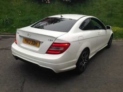 window tinting Huddersfield Class C250 tinted by go tints